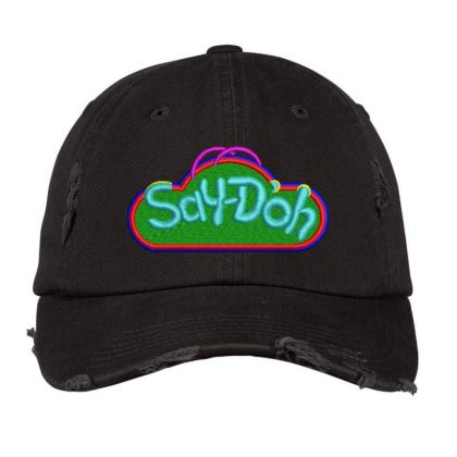Say-doh Embroidered Hat Distressed Cap Designed By Madhatter