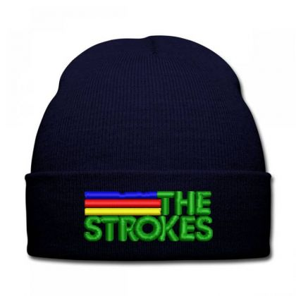 The Strokes Embroidered Hat Knit Cap Designed By Madhatter