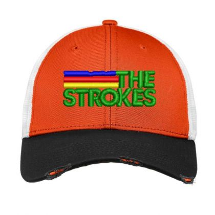 The Strokes Embroidered Hat Vintage Mesh Cap Designed By Madhatter