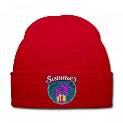 Summer Embroidered Hat Knit Cap Designed By Madhatter
