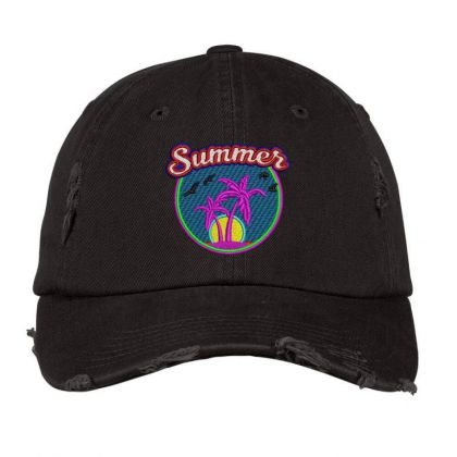 Summer Embroidered Hat Distressed Cap Designed By Madhatter