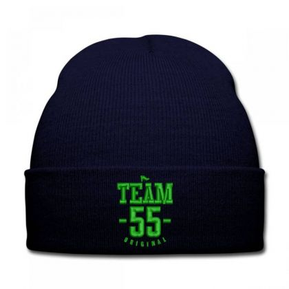 Team 55 Embroidered Hat Knit Cap Designed By Madhatter