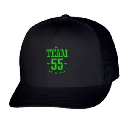Team 55 Embroidered Hat Trucker Cap Designed By Madhatter
