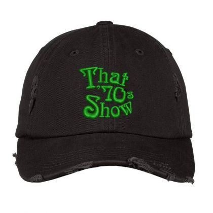 That 70's Show Embroidered Hat Distressed Cap Designed By Madhatter