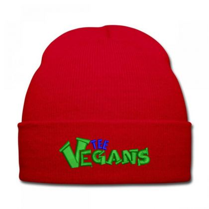 The Vegans Embroidered Hat Knit Cap Designed By Madhatter