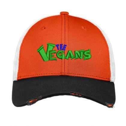 The Vegans Embroidered Hat Vintage Mesh Cap Designed By Madhatter