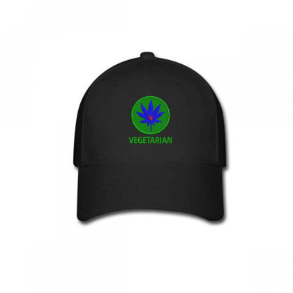 Vegetarian Embroidered Hat Baseball Cap Designed By Madhatter