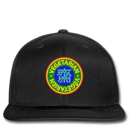 Vegetarian Embroidered Hat Snapback Designed By Madhatter