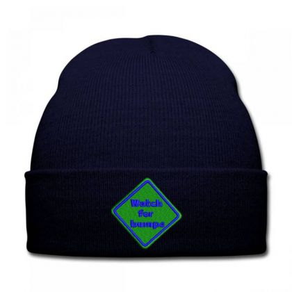 Watch For Bumps Embroidered Hat Knit Cap Designed By Madhatter