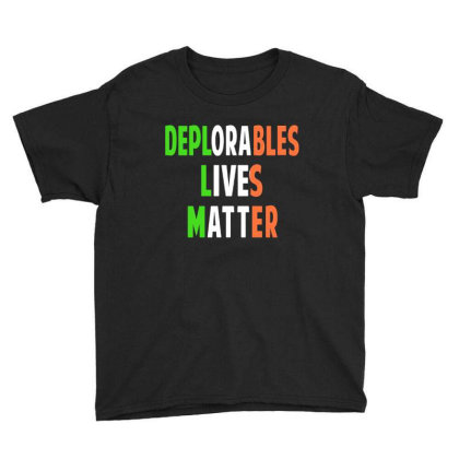 Deplorable Lives Matter Youth Tee Designed By Alaska Tees