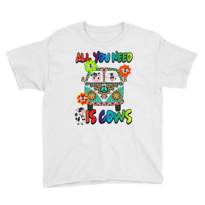 All You Need Is Cows Youth Tee Designed By Hoainv