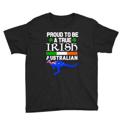 Proud To Be A True Irish Autralian Youth Tee Designed By Alaska Tees