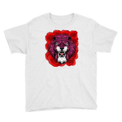 Lion Of Rose Youth Tee Designed By Cloudystars