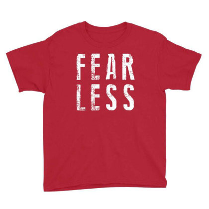 Fearless Brave Fear Youth Tee Designed By Designisfun