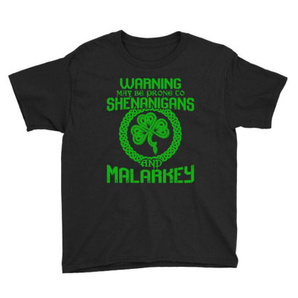 Warning May Be Prone To Shenanigans And Malarkey Youth Tee Designed By Alaska Tees
