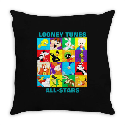 Looney Tunes Throw Pillow Designed By Alaska Tees