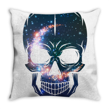 Skull Galaxy Throw Pillow Designed By Cloudystars