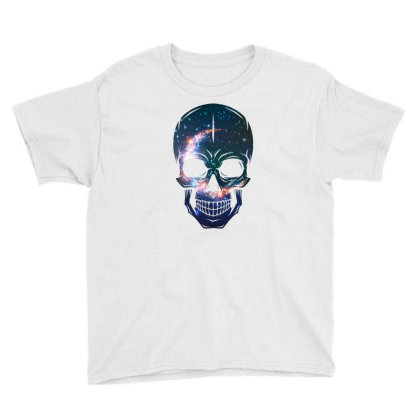 Skull Galaxy Youth Tee Designed By Cloudystars