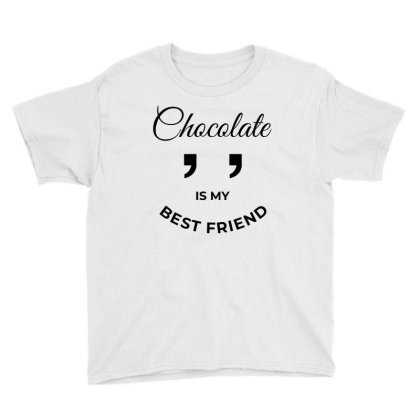 Chocolate Best Friend Youth Tee Designed By Designisfun