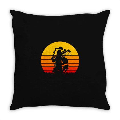 Retro Samurai Throw Pillow Designed By Cloudystars