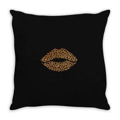 Leopard Lips Throw Pillow Designed By Bettercallsaul