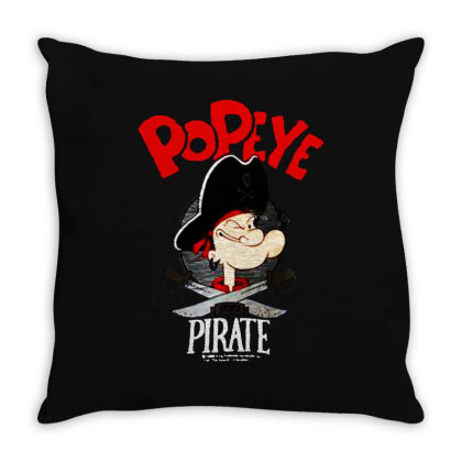 Popeye Goes Pirate Throw Pillow Designed By Alaska Tees