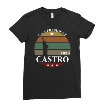 Julian Castro 2020 Ladies Fitted T-shirt Designed By Cloudystars