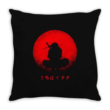 Itachi Uchiha Throw Pillow Designed By Alaska Tees
