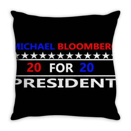 Michael Bloomberg For President 2020 Throw Pillow Designed By Cloudystars