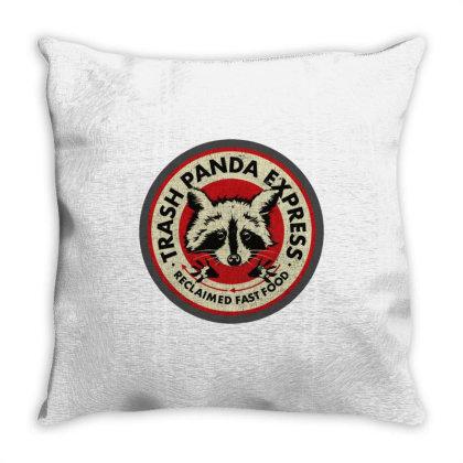Trash Panda Express Throw Pillow Designed By Alaska Tees
