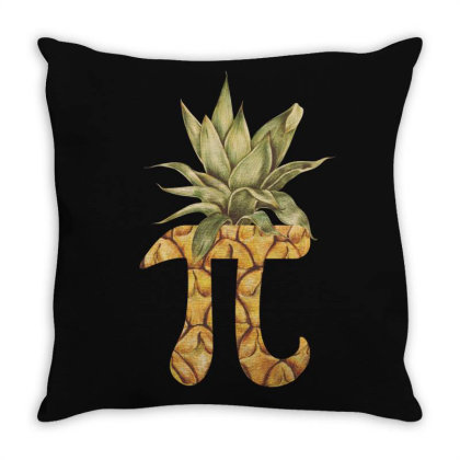 Pineapple Pi Day Tropical Fruits Love Throw Pillow Designed By Gurkan