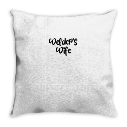 Welder's Wife Throw Pillow Designed By Thebestisback