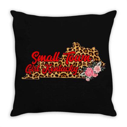 Small Town Girl Kentucky Throw Pillow Designed By Gurkan