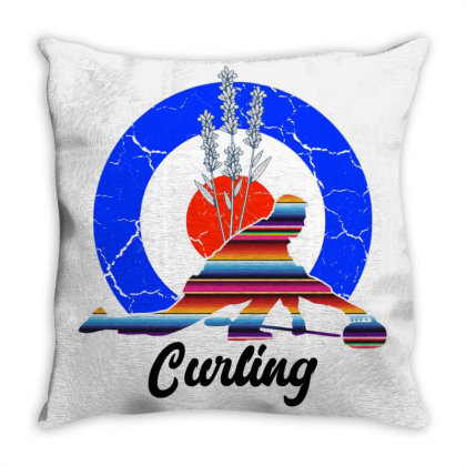 Curling For Light Throw Pillow Designed By Gurkan