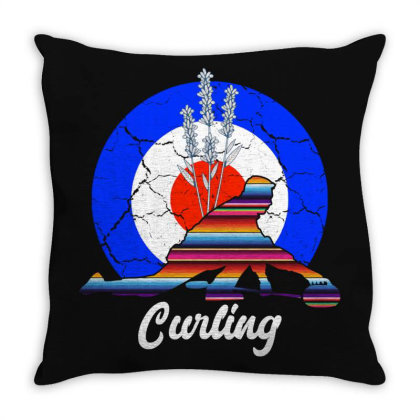 Curling For Dark Throw Pillow Designed By Gurkan