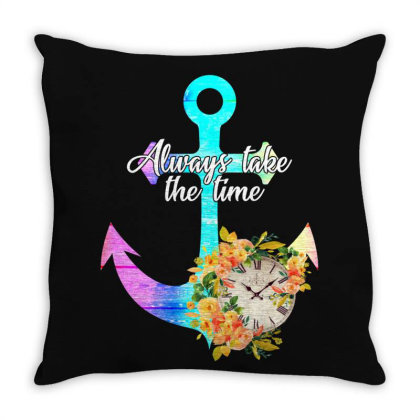 Always Take The Time For Dark Throw Pillow Designed By Gurkan