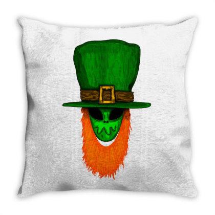 Irish Alien Throw Pillow Designed By Mysticalbrain