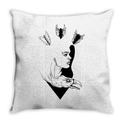Strong Girl Throw Pillow Designed By Mysticalbrain