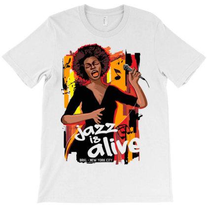 Listen Jazz Music Live T-shirt Designed By Designisfun