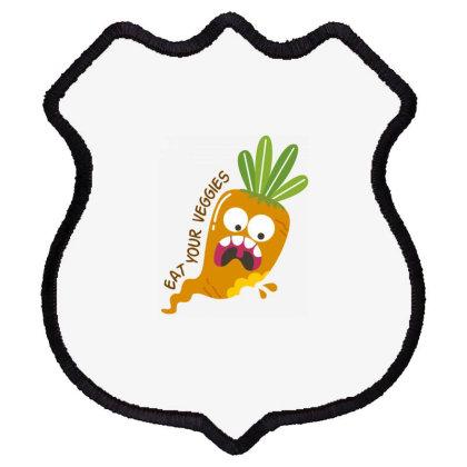 Eat Your Veggies Shield Patch Designed By Estore