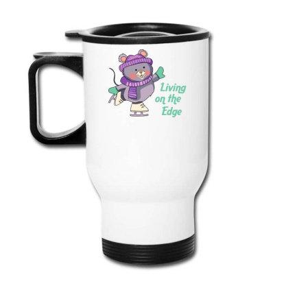 Living On The Edge Funny Cute Bear Travel Mug Designed By Farrel T-shirt