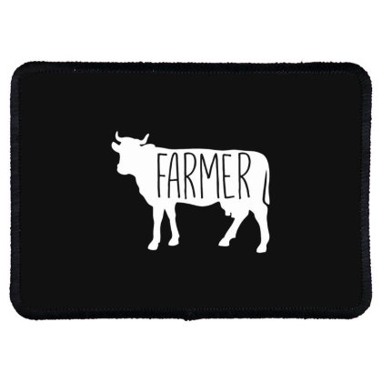Farmer Cow Rectangle Patch Designed By Hoainv