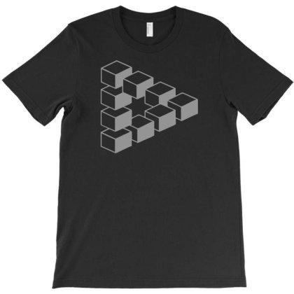 Sheldon Dreieck Big Bang Theory Triforce Illusion 3d Nerd Fun Usa T-shirt Designed By Fanshirt