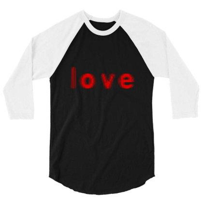Love T Shirt 3/4 Sleeve Shirt Designed By X Men Shop