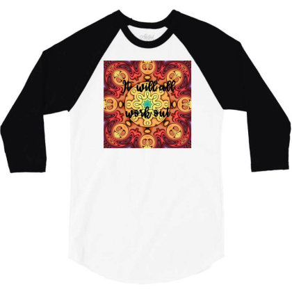 Mandalas 6 3/4 Sleeve Shirt Designed By Artango