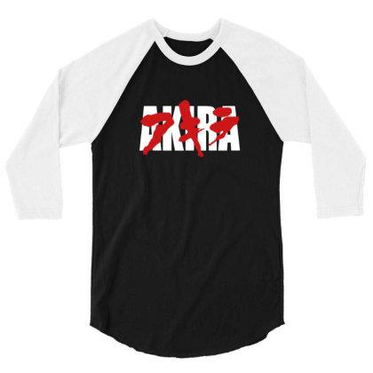 Akira Japanese White 3/4 Sleeve Shirt Designed By Sr88