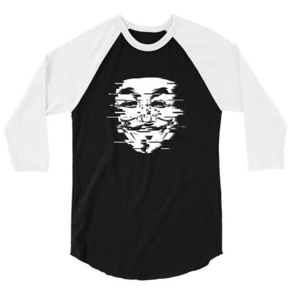 Anon Glitch White 3/4 Sleeve Shirt Designed By Sr88