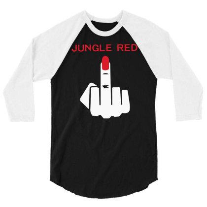 Jungle Red 3/4 Sleeve Shirt Designed By Farrel T-shirt