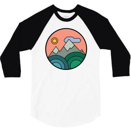 Mountains Colours 3/4 Sleeve Shirt Designed By Farrel T-shirt