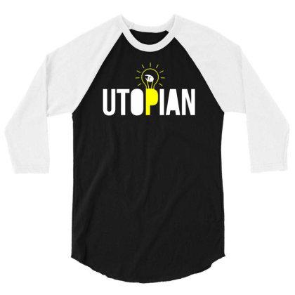Utopian Bulb 3/4 Sleeve Shirt Designed By Farrel T-shirt
